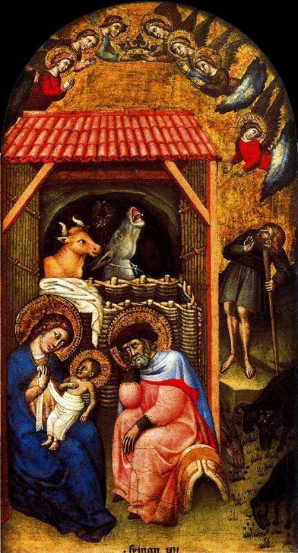 Simone dei Crocifiss Nativity,1370-1380