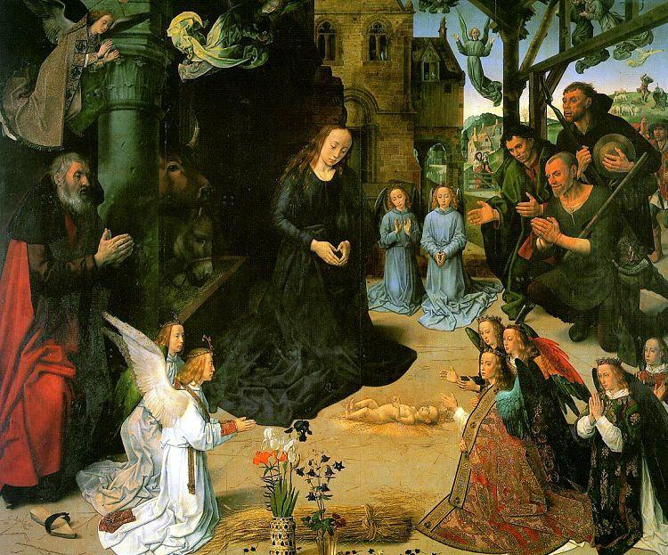 Hugo van der Goes, ( 1440-1482)    Adoration of the Shepherds