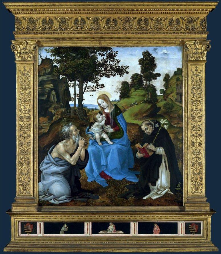Lippi Filippino-th St Jerome andDominic,1485