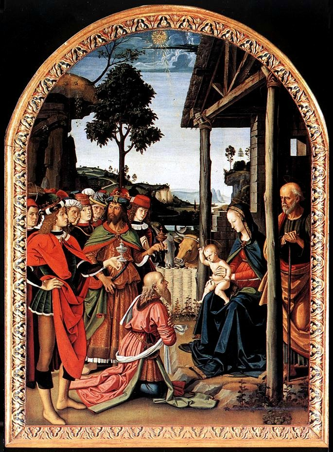 Pietro Perugino-Adoration of the Kings (Epiphany),c.1476