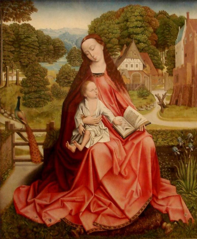 Virgin and Child in a Landscape c. 1492-1498 -Possibly Master of the Madonna Grog or Aert van den Bossche