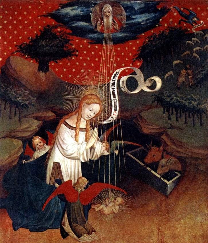 Master Francke- 1424 - THE BIRTH OF GESUS