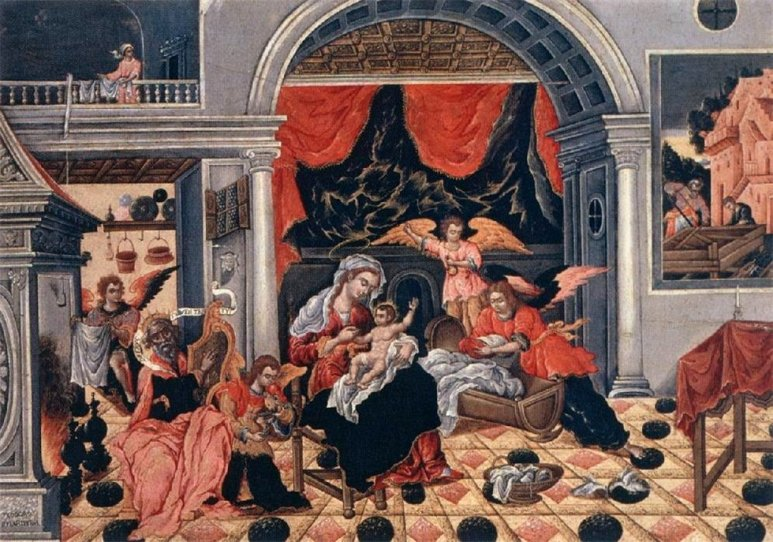 Theodoros Poulakis-The Nativity of Christ, 1675