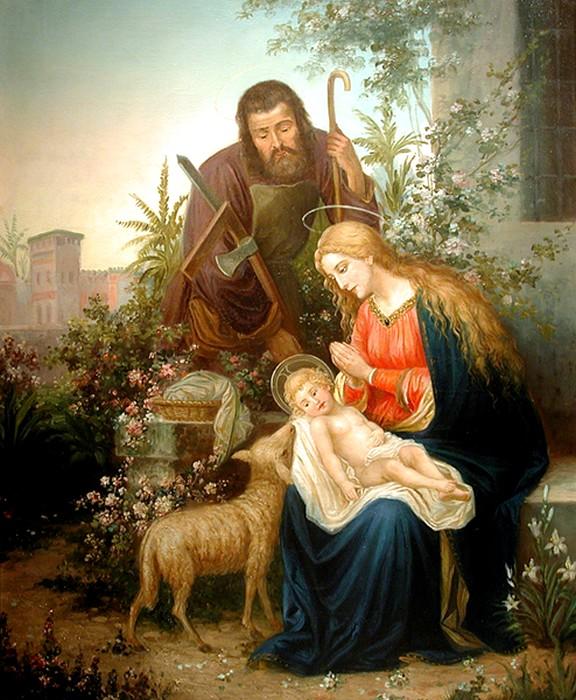 Hans Zatzka (1859-1945)     Holy family