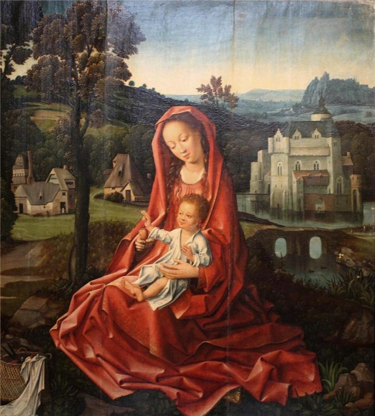 The Virgin and Child in a Landscape c. 1510 - 1520