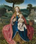 Attributed to Jan Provoost- Madonna and child with saints, about 1480-1485