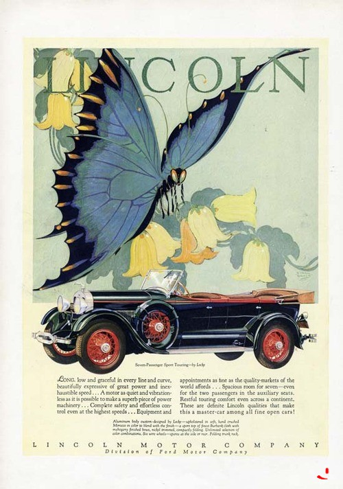 Lincoln advertisement from 1928.