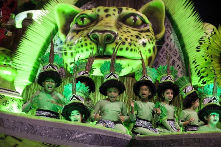 Carnival parade in Sao Paulo, Brazil
