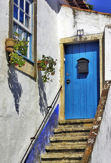 Blue Door in Obidos - Portugal (by h_roach)