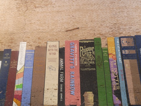 Book Mural in Salt Lake City, Utah.