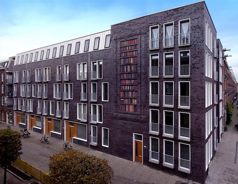 Building facade by Dutch artist, Sanja Medic in Amsterdam 1