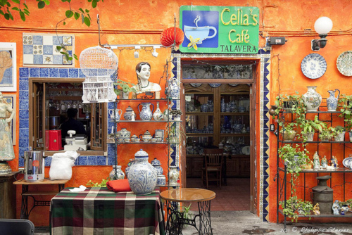 Cella's Café in Puebla  Mexico (by Pipall)