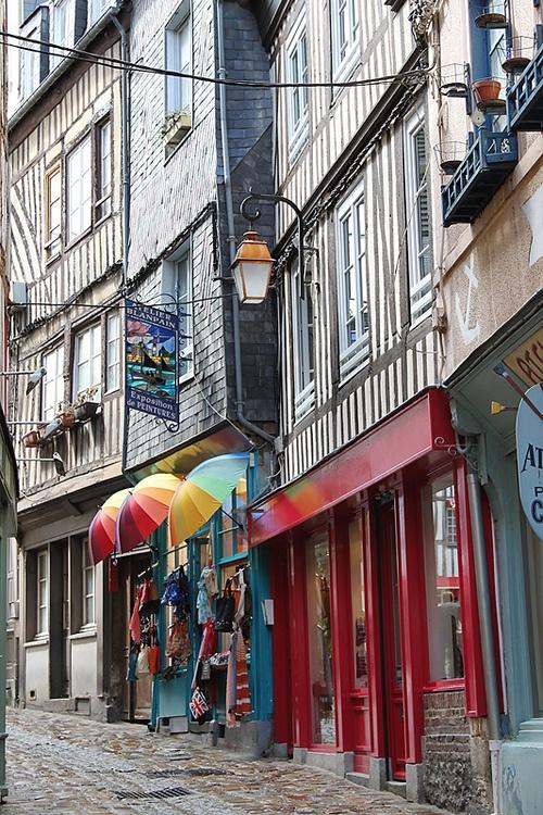 Ancient Street, Honfleur, Basse-Normandie, France