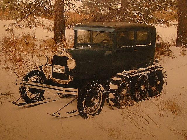 Ford model A snow car
