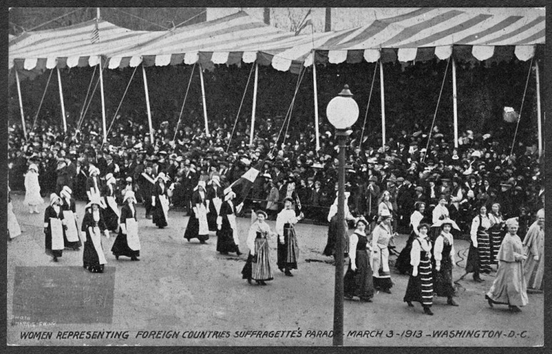 Foreign suffragette parade March 3, 1913