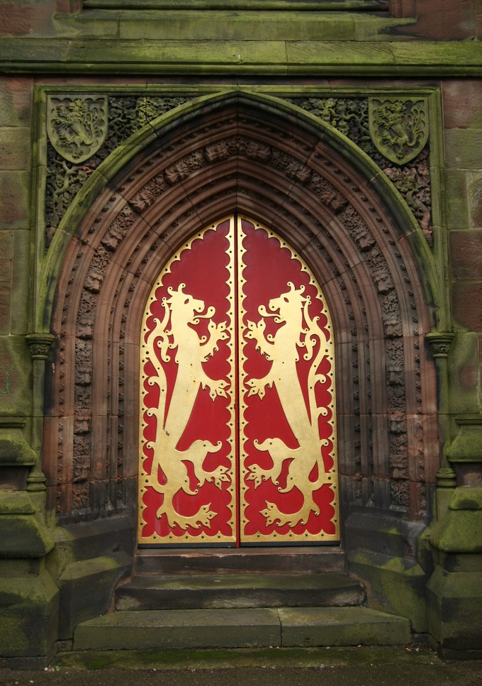 Lionheart Doorway, St. Giles, Staffordshire, England By Lawrence OP