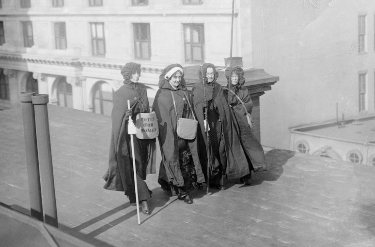 Mrs. John Boldt, Mrs. May Morgan, Miss Dock and Miss Craft, who took part in the march from New York to Washington and parade for women's suffrage.