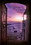 Santorini, Greece. Doorway in Fira.