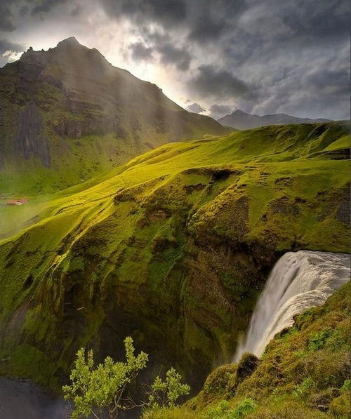Spring Waterfall, Iceland