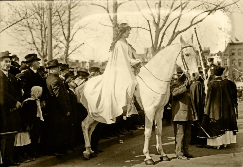 Suffrage parade, Inez Milholland, March 3, 1913