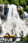 Waterfall Highway, Furebergsfossen, Hardanger, Norway