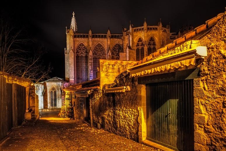 La basilique Saint-Nazaire -La Cité de Carcassonne FRANCE