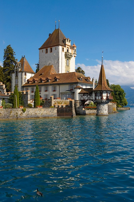 Oberhofen Castle, Lake Thun, Switzerland