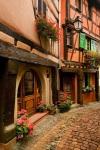 Cobblestone Street, Alsace, France