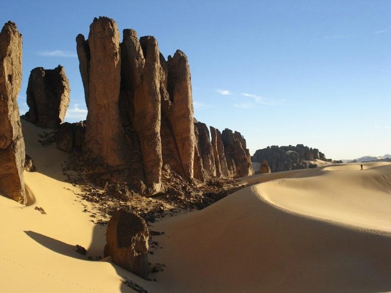 In the Sahara Desert.