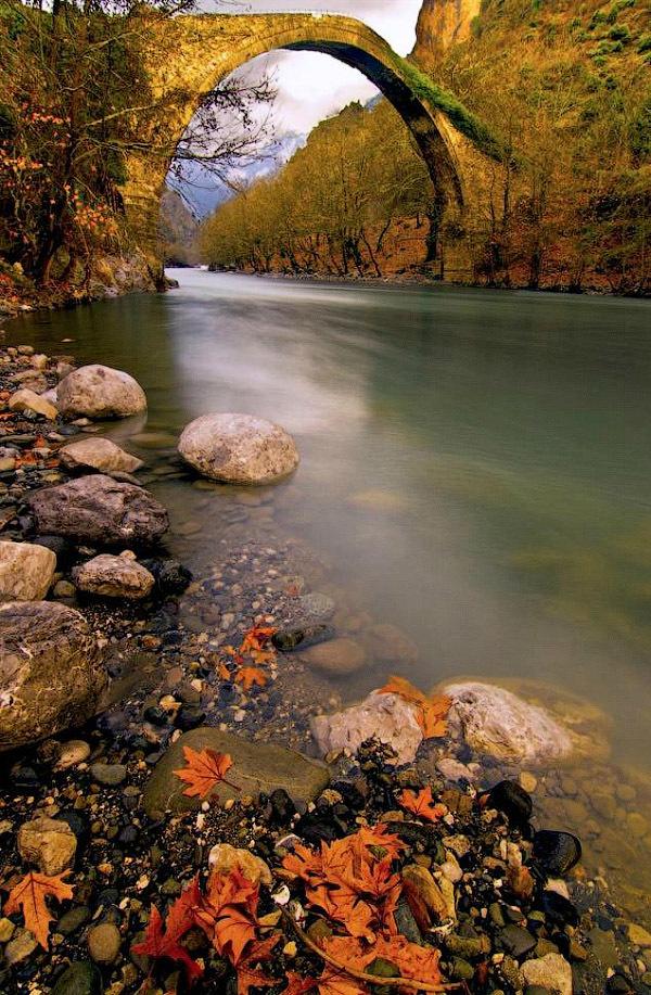 Old Bridge Konitsa, Epirus, Greece.