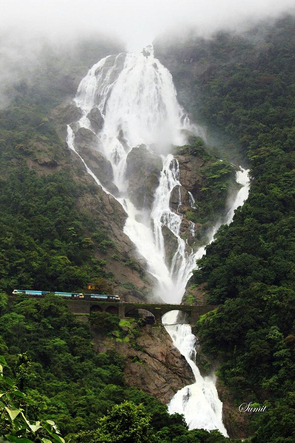 Waterfall Dudhsagar, India